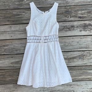 Free People White Daisy Cut Out Dress Size 0